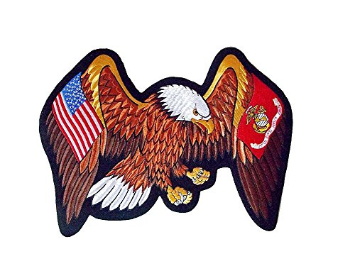 - Marines Eagle American Flag Large Back Patch 13.5