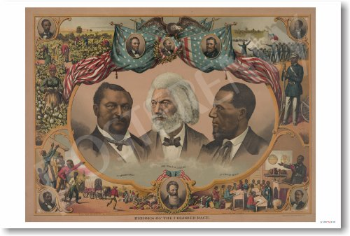 American History: African American Heros Poster - Reproduction Classroom
