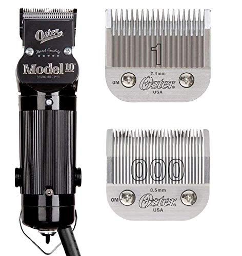 Oster Model 10 Professional Hair Clippers with Exclusive Break Resistant Housing, Comes with 000 Blade and BONUS FREE 1 Blade