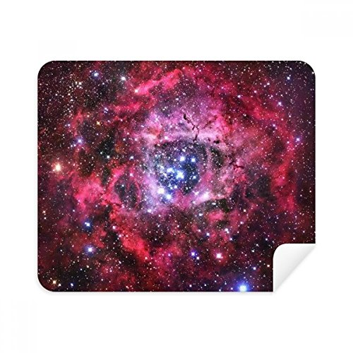 Rose Red Monoceros Rosette Nebula Pattern Phone Screen Cleaner Glasses Cleaning Cloth 2pcs Suede Fabric