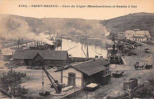 Saint-Brieuc France Train Station Harbor Antique Postcard J27848