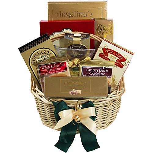 Sweet Sensations Cookie, Candy and Treats Gift Basket SMALL (Candy Option) (Cookie Hampers)
