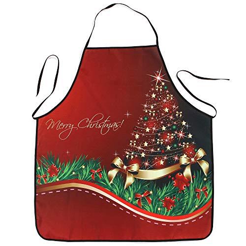 Christmas Apron for Women Children Kids Decoration Waterproof