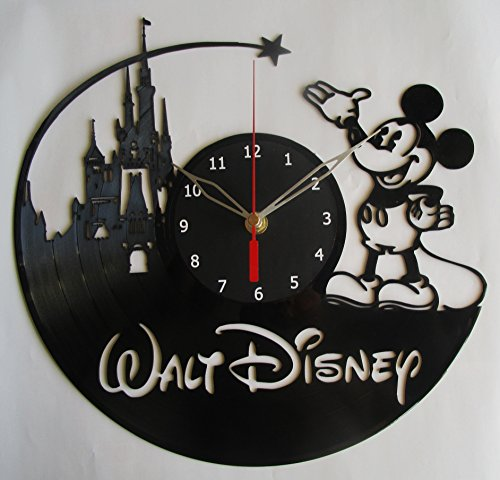 Mickey Mouse Disney Vinyl Clock Record Wall Clock Handmade Fan Art Decor Unique Decorative Vinyl Clock12