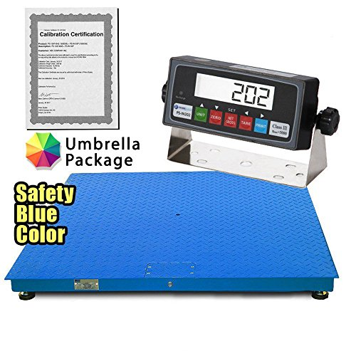 "MEILESTONE Heavy Duty NTEP 36""x36"" Industrial Floor Scale 5000x1lb CS2010-3x3 + Indicator – Industrial & Recycle Center Scales, Built-In Smart Data Function & Calibration Certification"
