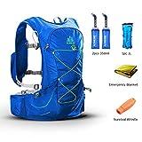 POJNGSN Outdoor Lightweight Hydration Backpack Rucksack Bag Free 2L Water Bladder for Hiking Camping Running Race Set-D