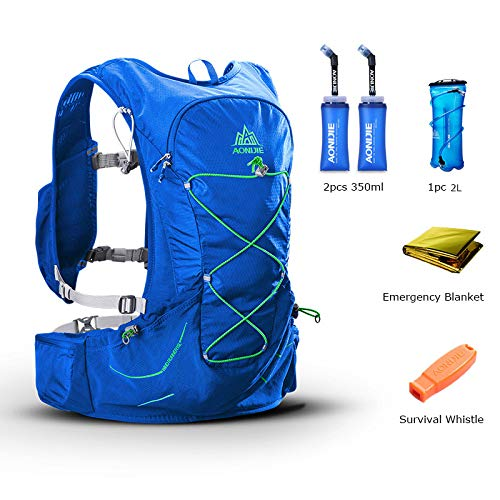 POJNGSN Outdoor Lightweight Hydration Backpack Rucksack Bag Free 2L Water Bladder for Hiking Camping Running Race Set-D by POJNGSN (Image #1)