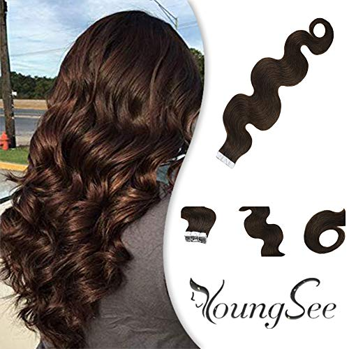 Youngsee 18inch Brown Extensions Brazilian