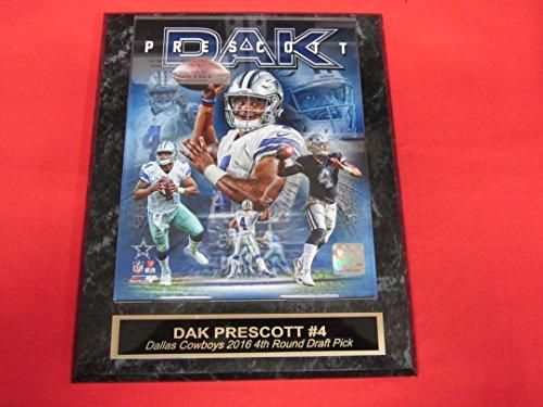 Dak Prescott Dallas Cowboys Engraved Collector Plaque w/8x10 Composite Photo