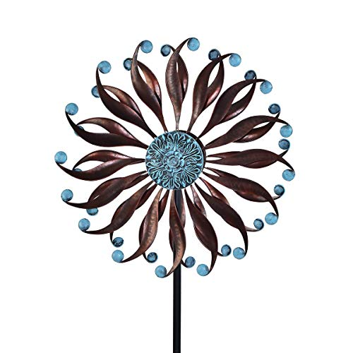 3D Kinetic Wind Spinners with Stable Stake Metal Garden Spinner with Reflective Painting Unique Lawn Ornament Wind Mill for Outdoor Yard Lawn Garden Decorations ...