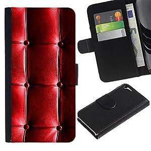 LASTONE PHONE CASE / Lujo Billetera de Cuero Caso del tirón Titular de la tarjeta Flip Carcasa Funda para Apple Iphone 5 / 5S / Pattern Leather Shiny Wrinkles Wrinkly