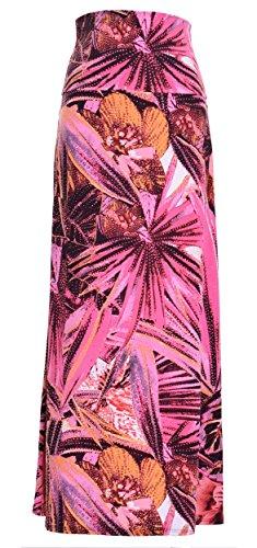 Printed Maxi Skirt (Medium, Sunset Tropic)
