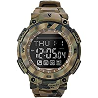 Bluetooth 4.0 Outdoor Sports Military Camouflage Smart Watch for iOS and Android (Army Green Camouflage)