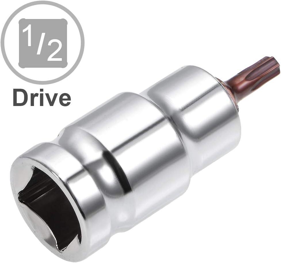 uxcell 1//2-Inch Drive T55 Torx Bit Socket S2 Steel 55mm Length 2 Pcs