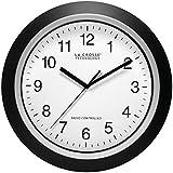 La Crosse Technology WT-3129B 12 Inch Atomic Analog Black Wall Clock