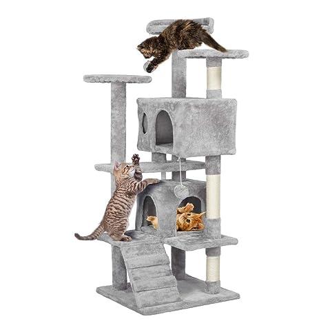 Amazon.com: Yaheetech Árbol para gatos de 51 pulgadas, torre ...