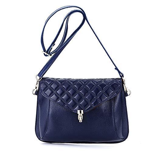 Bolsos Blue De Niñas Mujer Las Cremallera Para Handbag Cuero Con Hombro qI7vUawccT