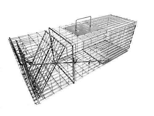 Tomahawk Model 1010 Raccoon, Woodchuck / Groundhog, Armadillo Trap with One Trap (Hog Trap Doors)