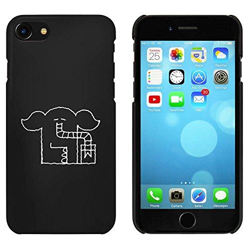 Noir 'Éléphant à Boire' étui / housse pour iPhone 7 (MC00062307)
