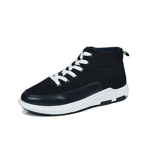 Otoño/Verano 2018 Zapatillas de Deporte atléticas para Hombre Estilo Casual Nuevo Lienzo Alto para Aumentar los Zapatos Deportivos de Tendencia: Amazon.es: ...