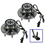 #7: 2 Front Wheel Hubs & Bearings Pair Set w/ ABS for Chevy GMC Truck 4X4 4WD