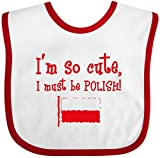 Inktastic So Cute Polish Baby Bib White/Red