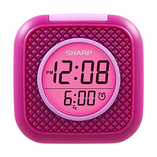 - SHARP Pillow Personal Alarm Clock - Wake to Vibration or Beep! - Use on Nightstand or Under Pillow! - Great for Travel or Home Use - Pink