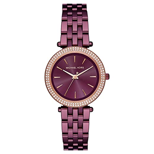 696bcd3ffd960 Michael Kors Ladies Mini Darci Rose Gold-plated Bracelet Watch MK3725   Amazon.co.uk  Watches
