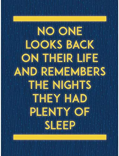 QUOTE TEXT WORD MOTIVATION REMEMBER PLENTY SLEEP LARGE ART PRINT LF1122