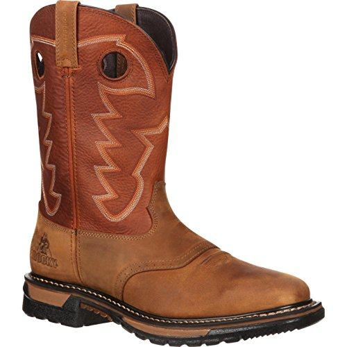 - Rocky Men's RKYW039 Western Boot Tan and Ochre 8.5 M US