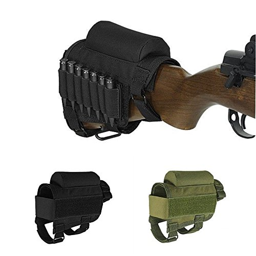 - Wildmarely Tactical Buttstock 308 - .300Winmag Adjustable Rifle Cheek Rest Pouch Holder (Black)