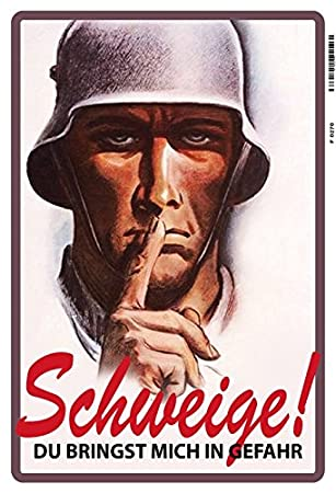 Comcard Schweige Soldat Deutsches Reich Wehrmacht Schild Aus Blech