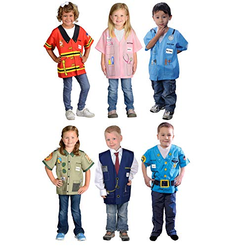 My First Career Gear Dress-Up Set of 6 Outfits for Children 3-6 yrs. of Age -