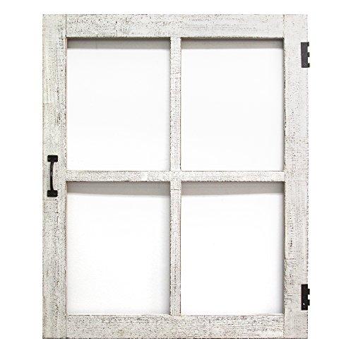 Stratton Home Decor Distressed White Faux Window Pane