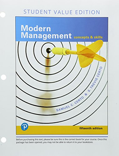 Modern Management: Concepts and Skills, Student Value Edition (15th Edition)