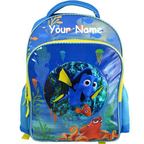 Personalized Finding Dory Confetti Bubble Back to School Backpack Book Bag - 16 Inches