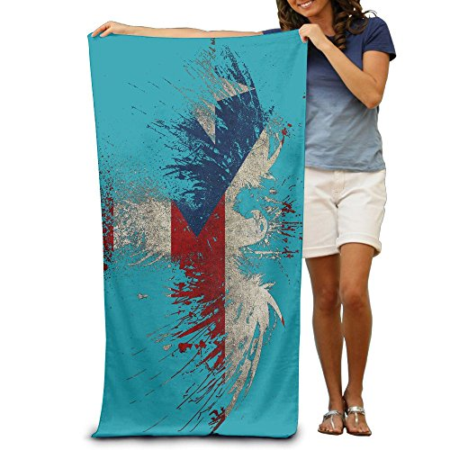 Yisliferunaz American Flag Clipart Beach Towels Novelty 100% Polyester Pool Bath Sheets Large Towel For Beach Blanket Cover Tent Floor Yoga Mat 31.5