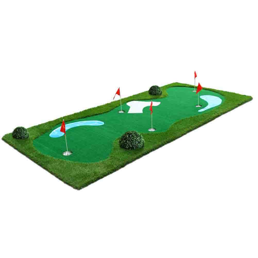 All-In-One Mutil Function Golf Practice Mat----Chipper/Irons/Driver/Putter Practice Mat,4.92FT X 11.48FT by PGM (Image #3)