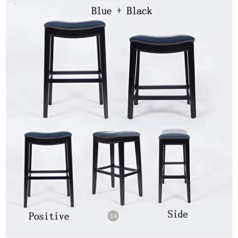 Marvelous Amazon Com Bar Stool Modern Minimalist Solid Wood Faux Andrewgaddart Wooden Chair Designs For Living Room Andrewgaddartcom