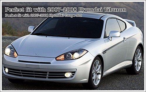 Hyundai Motors Genuine 863202C700 Coupe SIII 863302C000 Front Hood Rear Trunk 2.7 Elisa Tuscani Logo Emblem 4-pc Set For 07 08 Hyundai Tiburon Coupe SIII by Tiburon 07 ~ 08
