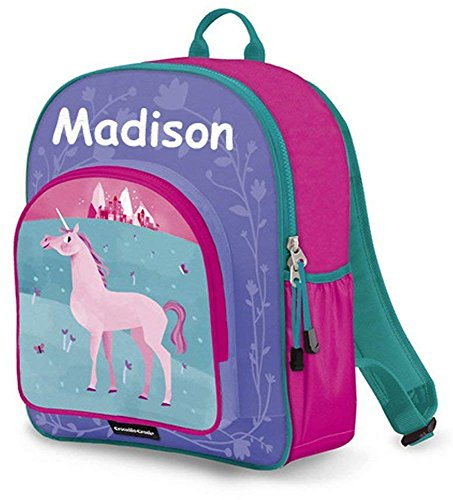Personalized Crocodile Creek Kids Unicorn School or Travel Backpack - 14 Inches]()