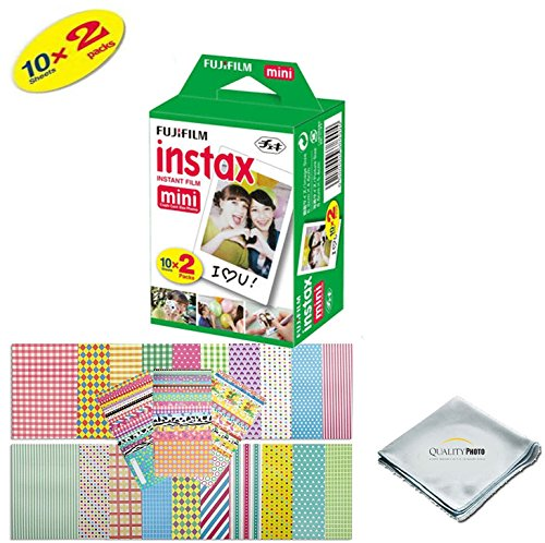 Fujifilm INSTAX Mini Instant Film 2 Pack - 20 SHEETS -  For