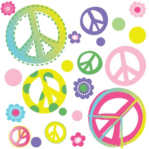 Peace Out! Decorative Wall Art Sticker Decals for Girls/Babies/Dorms