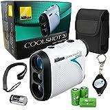 Nikon Coolshot 20 Golf Laser Rangefinder 550 Yard Range Bundle with 3 Extra Viridian CR2 Batteries and a Lumintrail Keychain Light