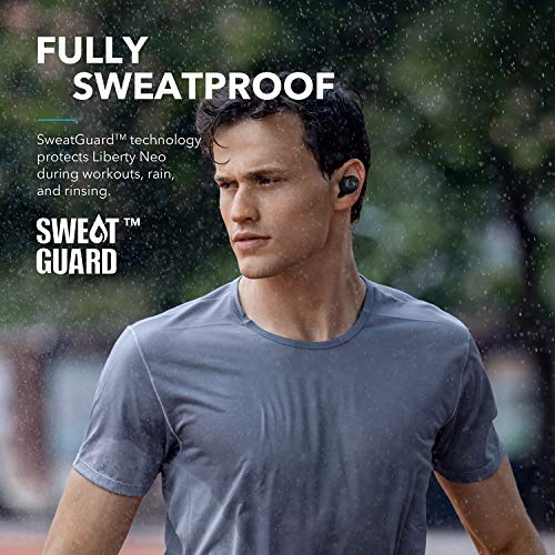 Anker Soundcore Liberty Neo Wireless Bluetooth Earbuds, Graphene Drivers, Pumping Bass, Secure Fit, Bluetooth 5.0 Headphones, Stereo Calls, Noise Canceling, Easy Pairing, Sweatproof, Sports, Work Out