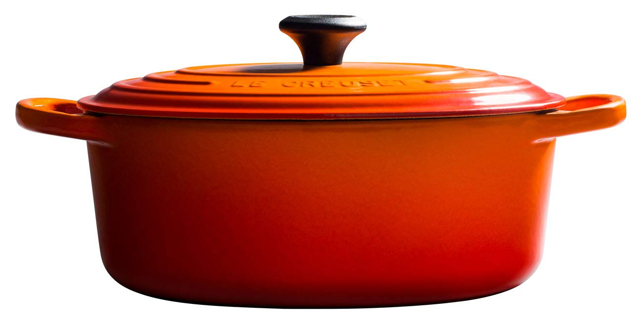 LE CREUSET Cocotte, Hierro Fundido, Volcánico (Naranja), 31 cm