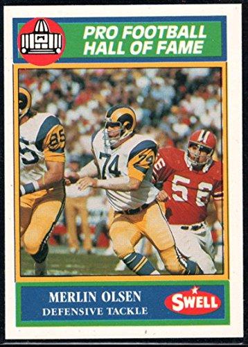 - Football NFL 1990 Swell Greats #116 Merlin Olsen LA Rams