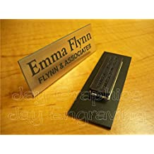 Custom Engraved 1x3 Brushed Copper Name Tag | Badge With Magnetic Closure | Employee Identification Plate Magnet Sign Personalized