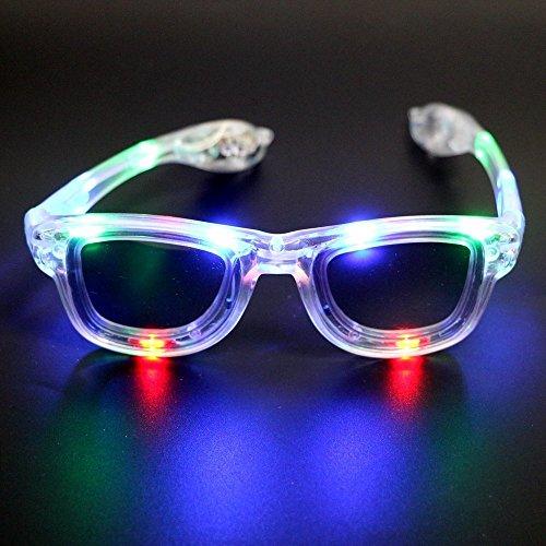 LED Glasses - 4 Color Options LED Flashing