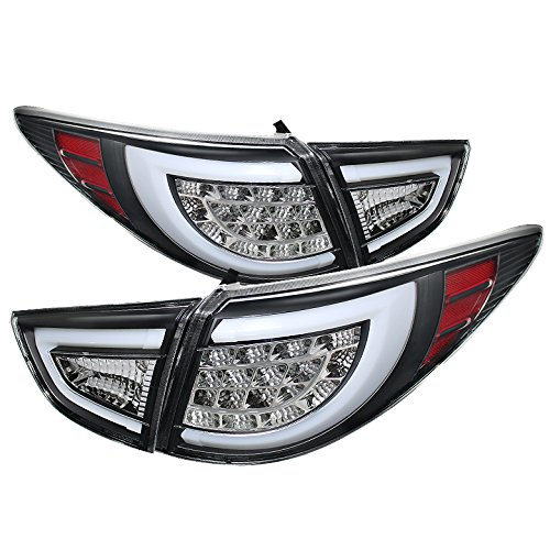 Sonar Tail - Xtune Hyundai Tucson LED Tail Lights with Black Housing